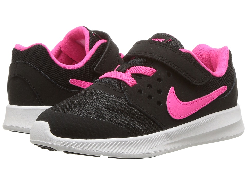 Nike Kids Downshifter 7 (Infant/Toddler) (Black/Racer Pink/Anthracite/White) Girls Shoes