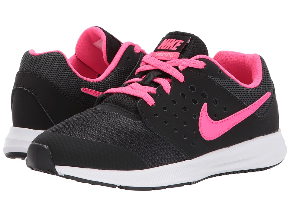 Nike Kids Downshifter 7 (Little Kid) (Black/Racer Pink/Anthracite/White) Girls Shoes