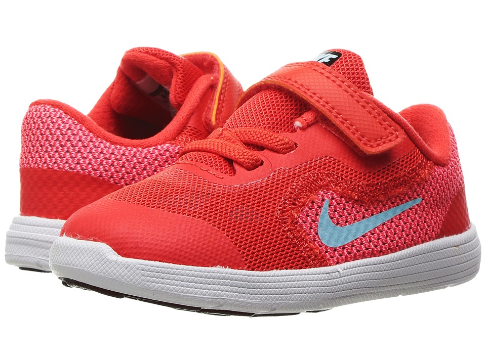 Nike Kids Revolution 3 (Infant/Toddler) (Max Orange/Still BLue/Lava Glow/White) Girls Shoes