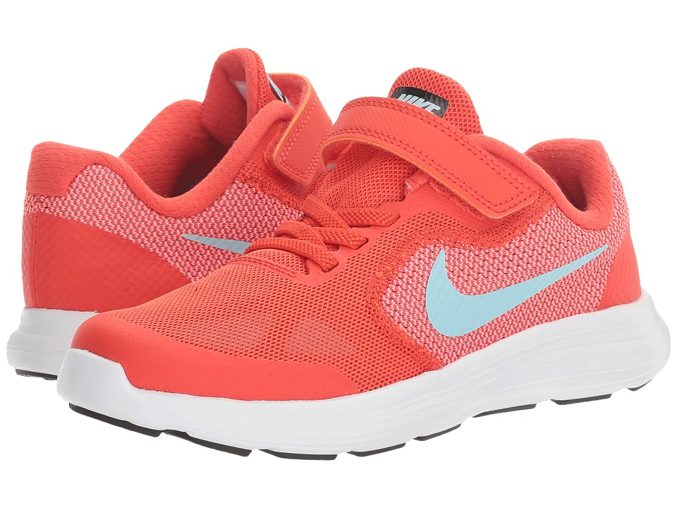 Nike Kids Revolution 3 (Little Kid) (Max Orange/Still BLue/Lava Glow/White) Girls Shoes
