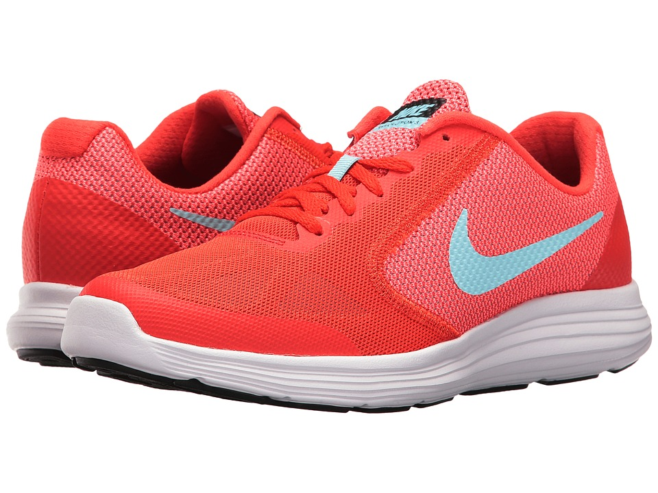 Nike Kids Revolution 3 (Big Kid) (Max Orange/Still BLue/Lava Glow/White) Girls Shoes