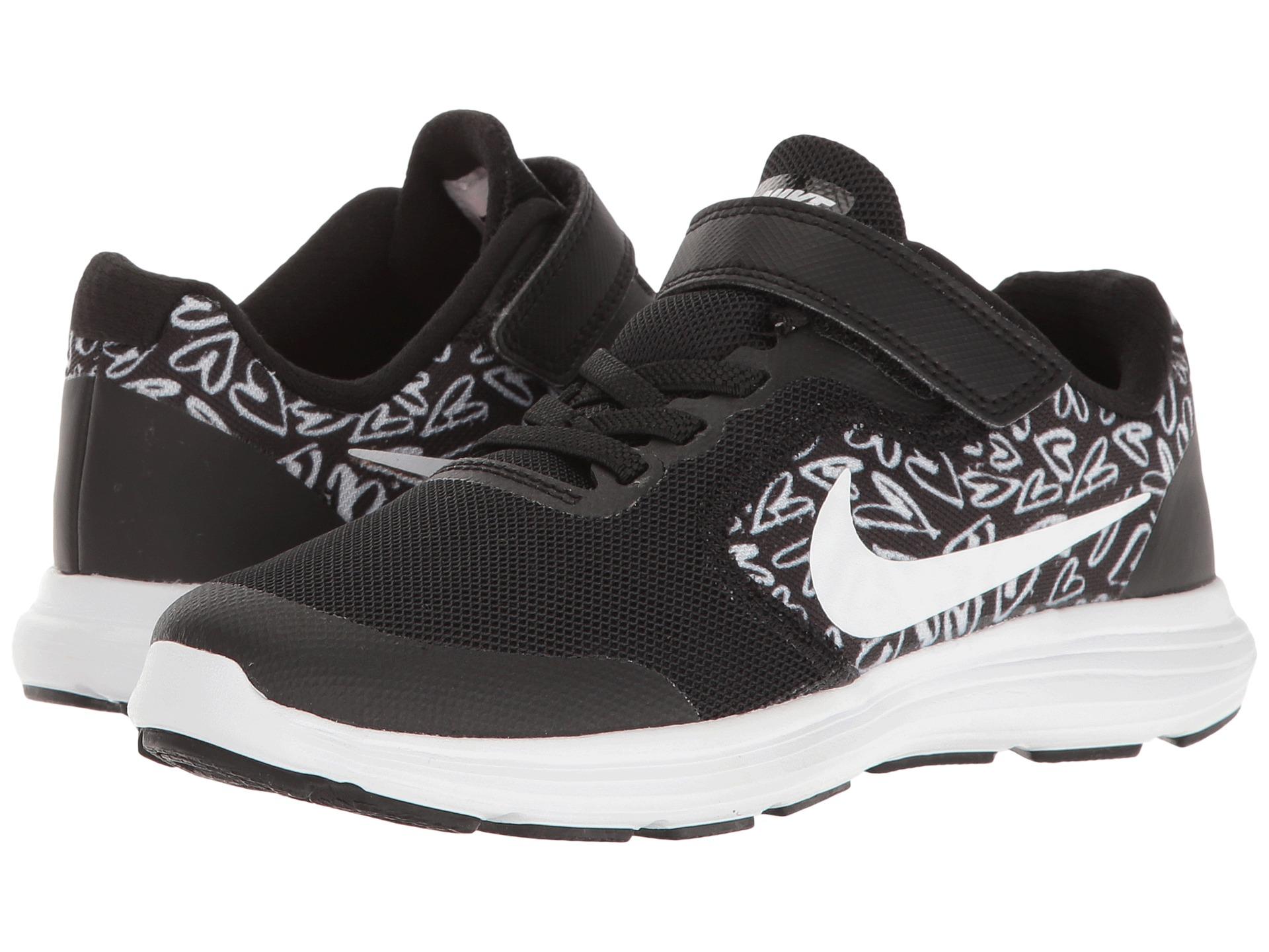 Nike Kids Revolution  Running Shoes Black Print