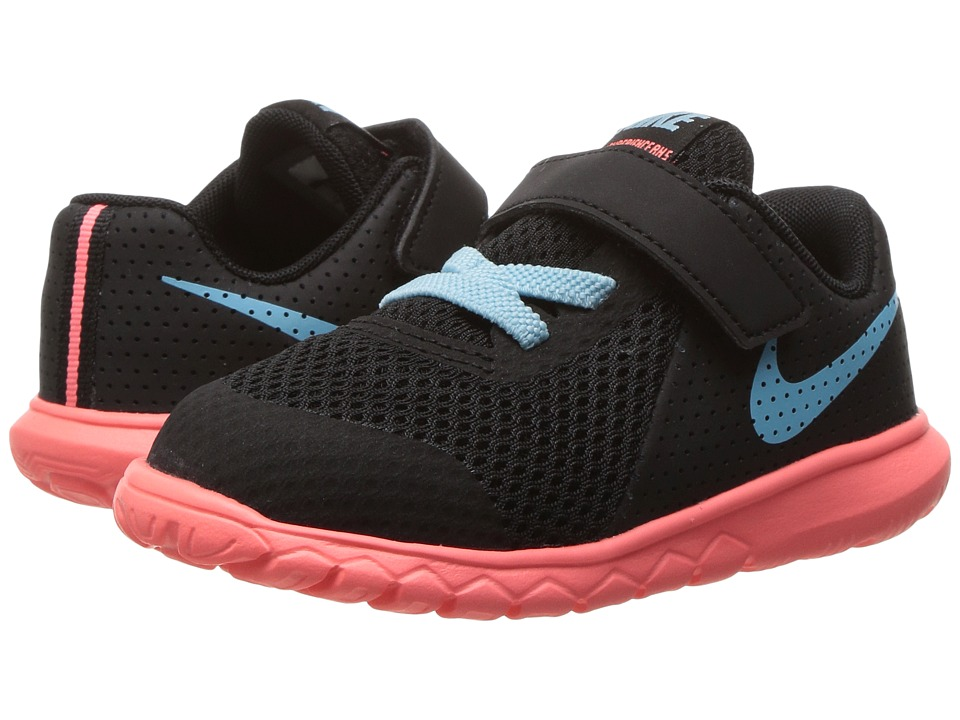 Nike Kids Flex Experience 5 (Infant/Toddler) (Black/Still Blue/Lava Glow) Girls Shoes
