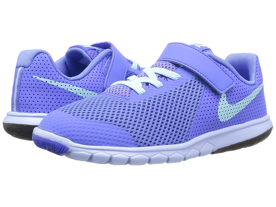 Nike Kids Flex Experience 5 (Little Kid) (Medium Blue/Still Blue/Aluminum/Black) Girls Shoes