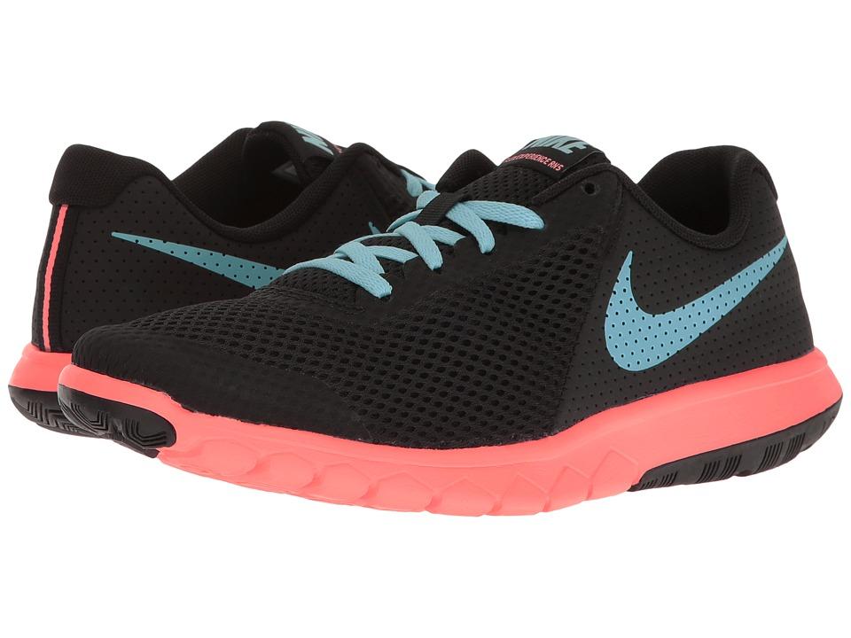 Nike Kids Flex Experience 5 (Big Kid) (Black/Still Blue/Lava Glow) Girls Shoes