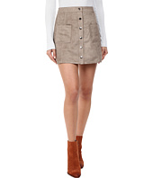Jack by BB Dakota - Callister Faux Suede Button Front Skirt