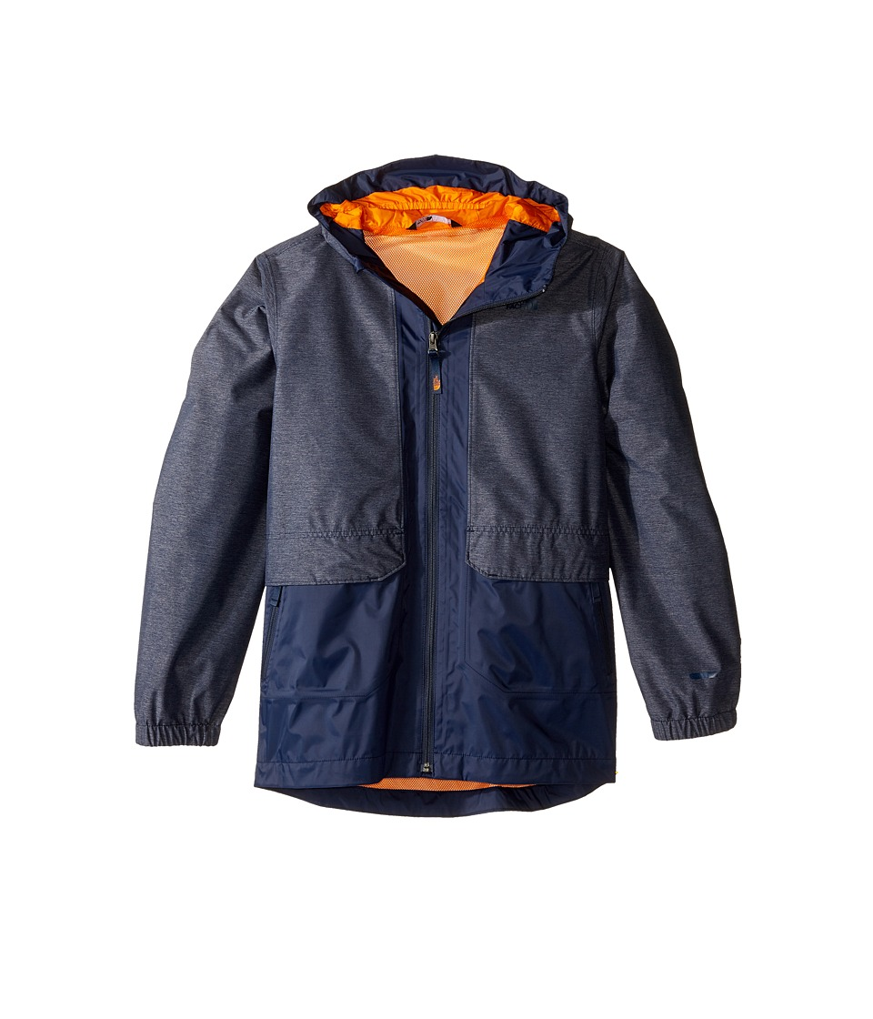 The North Face Kids Quinn Rain Jacket (Little Kids/Big Kids) (Cosmic Blue Heather) Boy