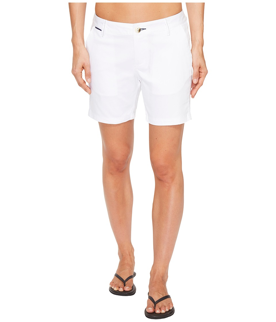 Columbia Harborside Shorts (White/Collegiate Navy) Women