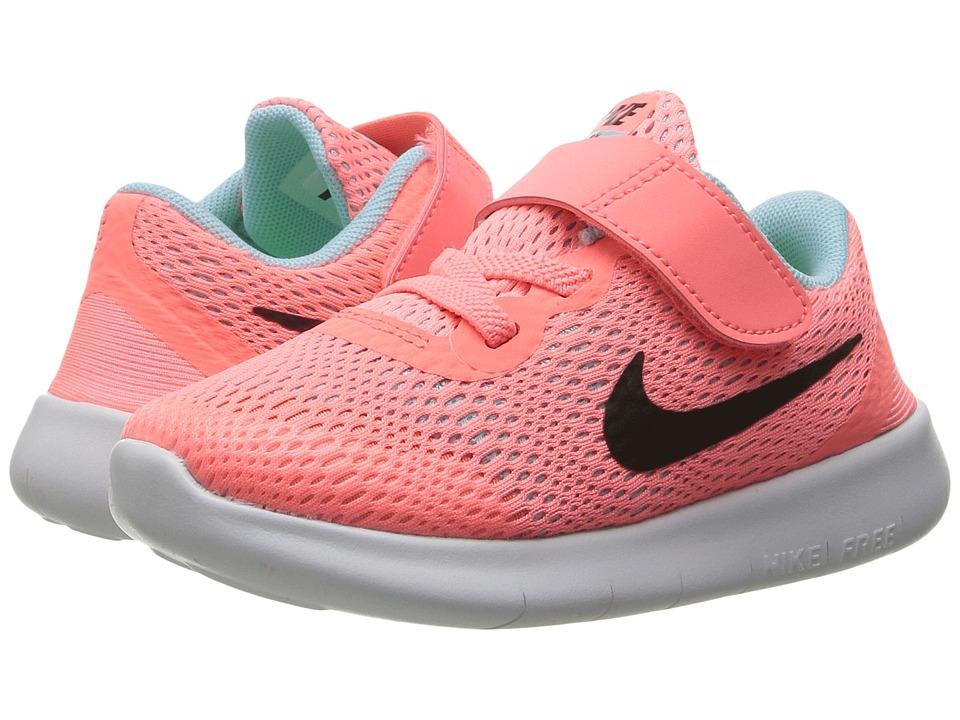 Nike Kids - Free RN (Infant/Toddler) (Lava Glow/Metallic Silver/Black) Girls Shoes