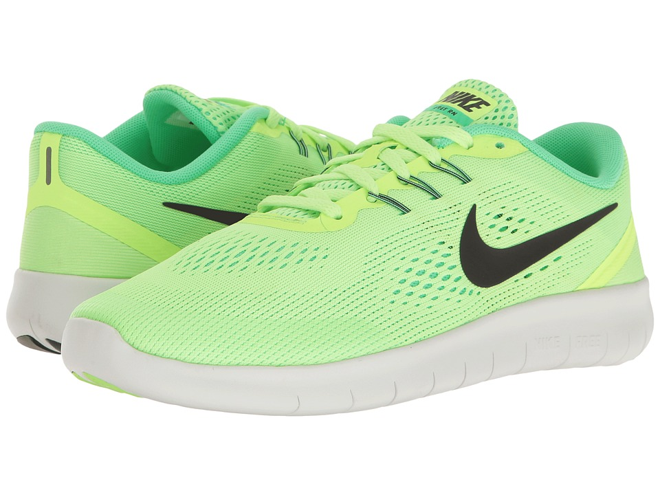 Nike Kids Free RN (Big Kid) (Ghost Green/Black/Electro Green) Girls Shoes