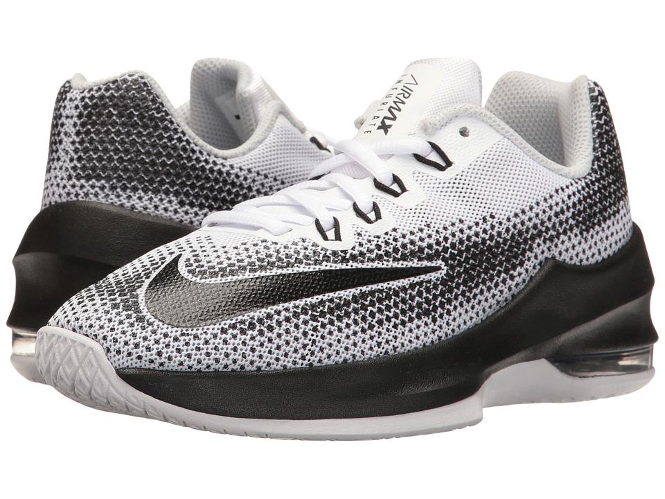Nike Kids Air Max Infuriate Basketball (Big Kid) (White/Black/Wolf Grey/Pure Platinum) Boys Shoes