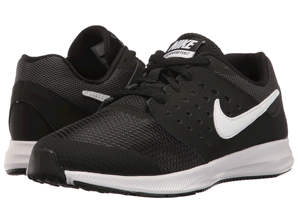 Nike Kids Downshifter 7 (Little Kid) (Black/White/Anthracite) Boys Shoes
