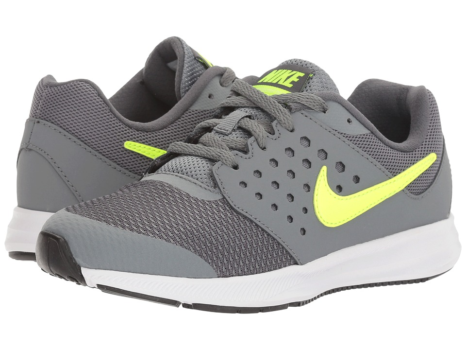 Nike Kids Downshifter 7 (Little Kid) (Cool Grey/Volt/Dark Grey/White) Boys Shoes