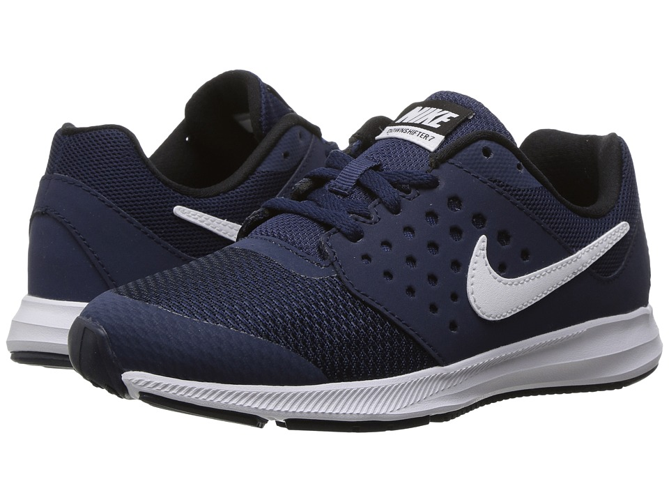 Nike Kids Downshifter 7 (Little Kid) (Midnight Navy/White/Dark Obsidian/Black) Boys Shoes
