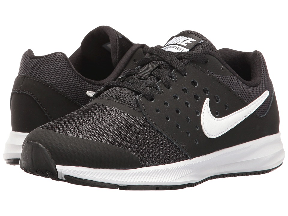 Nike Kids - Downshifter 7 Wide (Little Kid) (Black/White/Anthracite) Boys Shoes