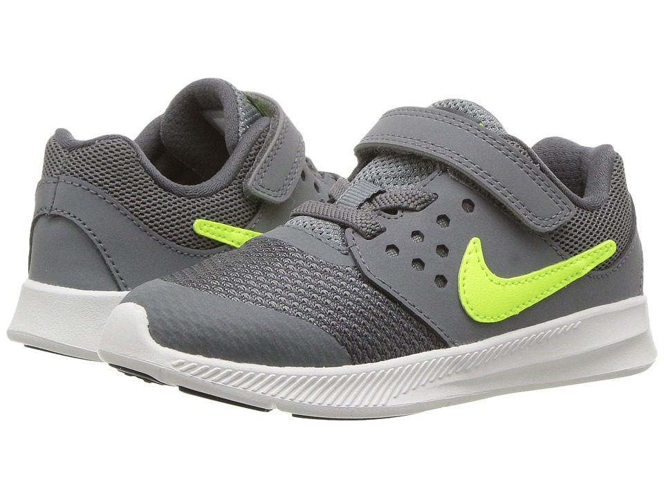 Nike Kids Downshifter 7 (Infant/Toddler) (Cool Grey/Volt/Dark Grey/White) Boys Shoes