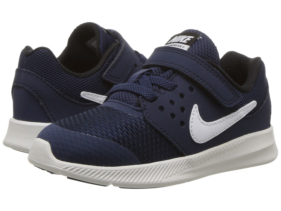 Nike Kids Downshifter 7 (Infant/Toddler) (Midnight Navy/White/Dark Obsidian/Black) Boys Shoes