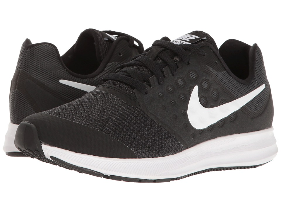 Nike Kids Downshifter 7 Wide (Big Kid) (Black/Metallic Silver/Anthracite) Boys Shoes