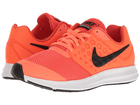 Nike Kids Downshifter 7 (Big Kid) - Hyper Orange/Black/Max Orange/White