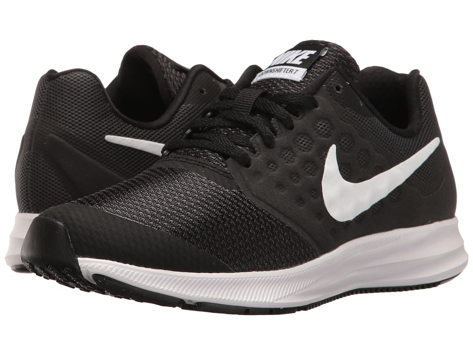 Nike Kids Downshifter 7 (Big Kid) (Black/Metallic Silver/Anthracite) Boys Shoes