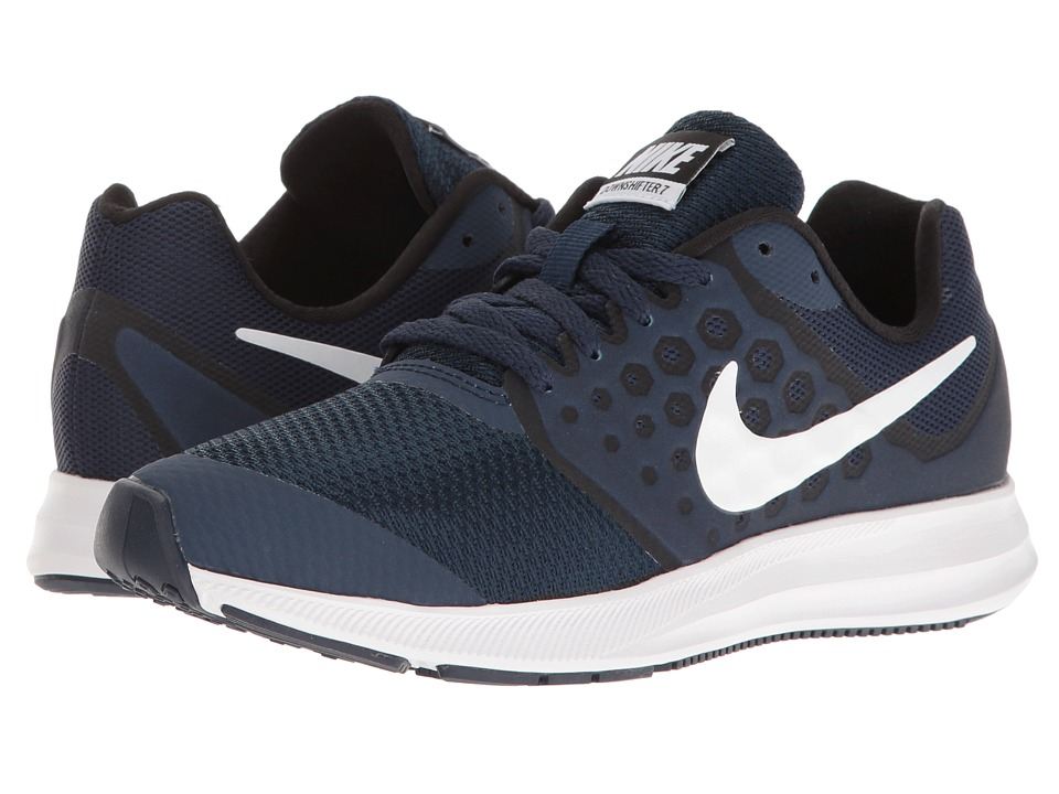 Nike Kids Downshifter 7 (Big Kid) (Midnight Navy/White/Dark Obsidian/Black) Boys Shoes
