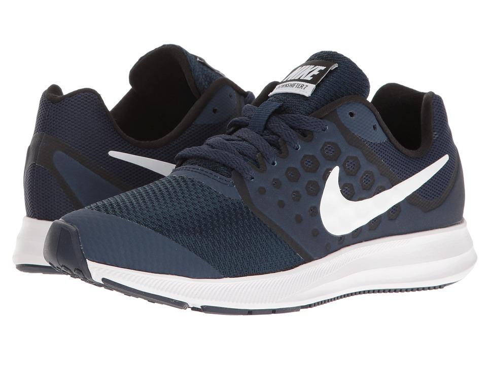 Nike Kids Downshifter 7 (Big Kid) (Midnight Navy/White/Dark Obsidian/Black) Boys Shoes