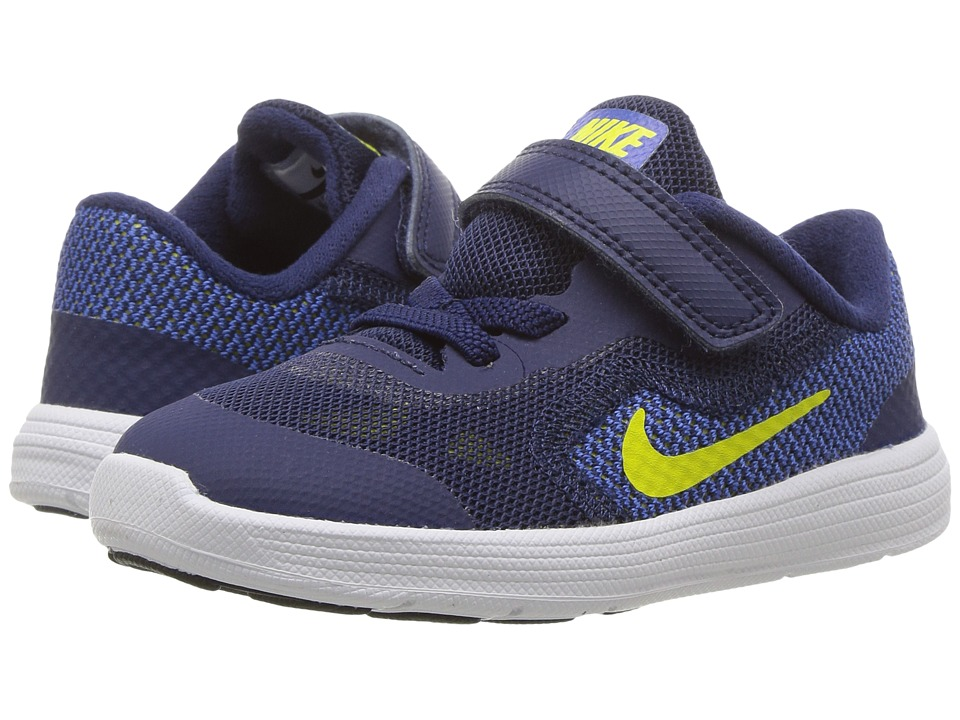 Nike Kids Revolution 3 (Infant/Toddler) (Binary Blue/Electrolime/Paramout Blue) Boys Shoes