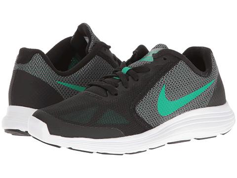 Nike Kids Revolution 3 (Big Kid) - Black/Stadium Green/Cool Grey/White