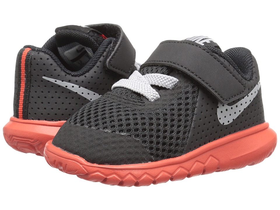 Nike Kids Flex Experience 5 (Infant/Toddler) (Black/Wolf Grey/Max Orange) Boys Shoes
