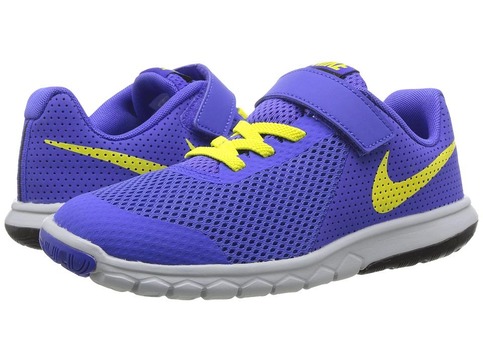 Nike Kids Flex Experience 5 (Little Kid) (Paramount Blue/Electrolime/Black) Boys Shoes