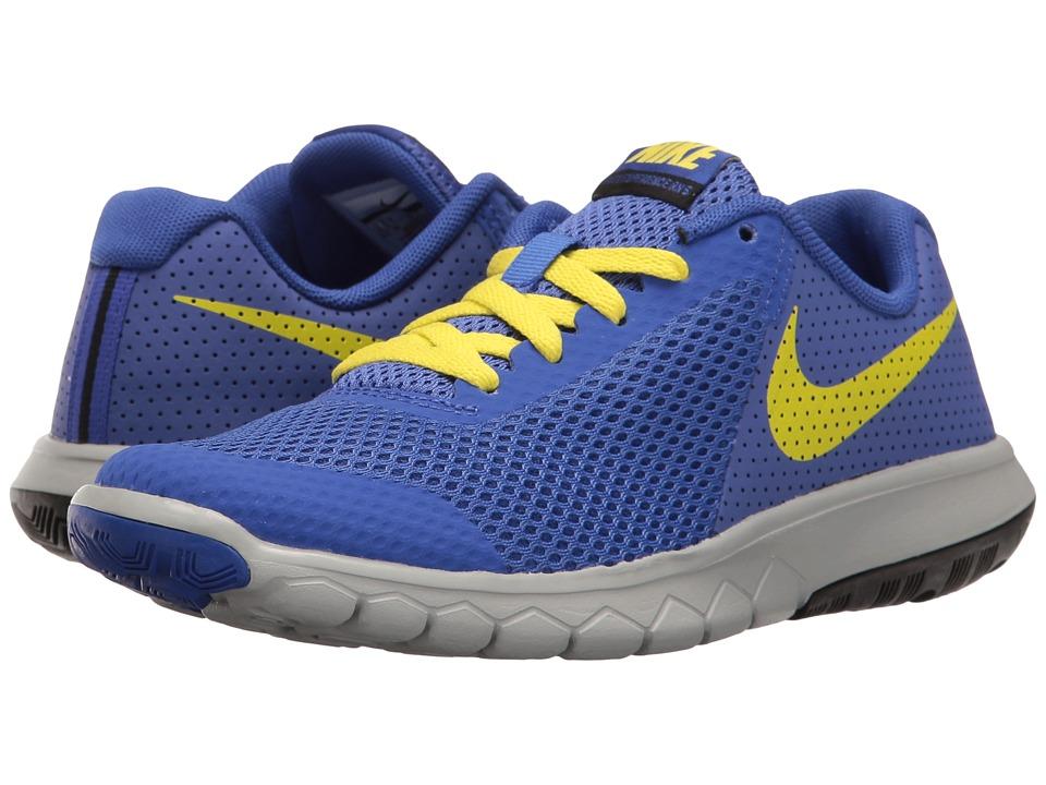 Nike Kids Flex Experience 5 (Big Kid) (Paramount Blue/Electrolime/Black) Boys Shoes