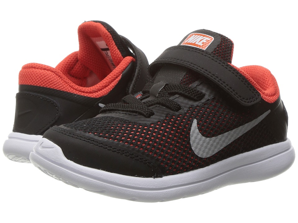 Nike Kids Flex 2016 RN (Infant/Toddler) (Black/Metallic Silver/Max Orange/Orchid) Boys Shoes