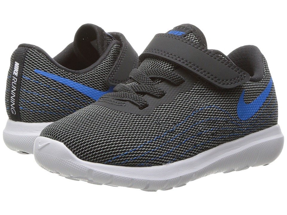 Nike Kids Flex Fury 2 (Infant/Toddler) (Anthracite/Photo Blue/Cool Grey/White) Boys Shoes