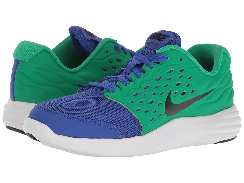 Nike Kids Lunastelos (Little Kid) (Paramount Blue/Black/Stadium Green/White) Boys Shoes