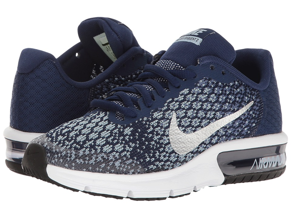 Nike Kids Air Max Sequent 2 (Big Kid) (Binary Blue/Metallic Silver/Blue Moon) Boys Shoes