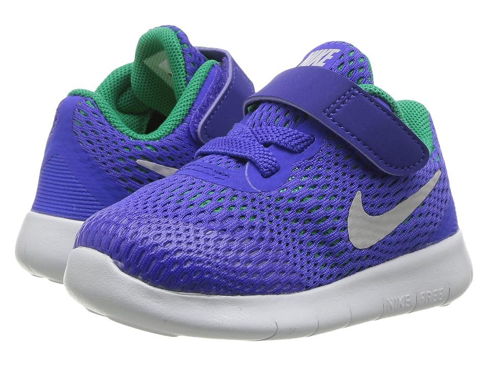 Nike Kids Free RN (Infant/Toddler) (Paramount Blue/Pure Platinum) Boys Shoes
