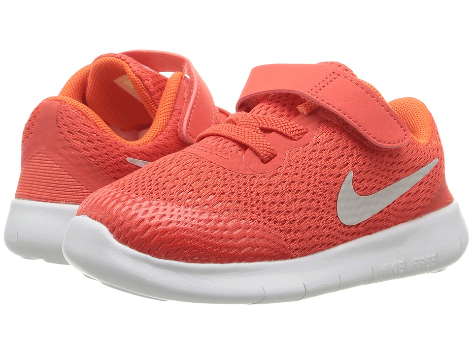 Nike Kids Free RN (Infant/Toddler) (Max Orange/Pure Platinum/Orchid) Boys Shoes