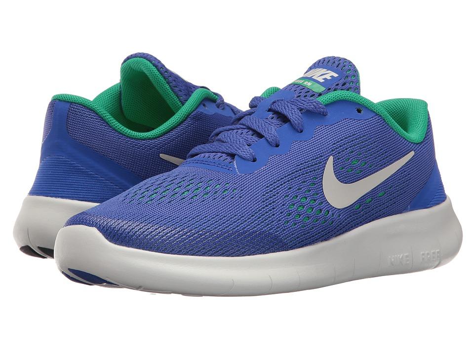 Nike Kids Free RN (Little Kid) (Paramount Blue/Pure Platinum) Boys Shoes