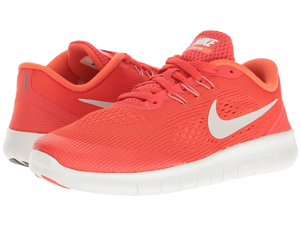 Nike Kids Free RN (Big Kid) (Max Orange/Pure Platinum/Orchid) Boys Shoes
