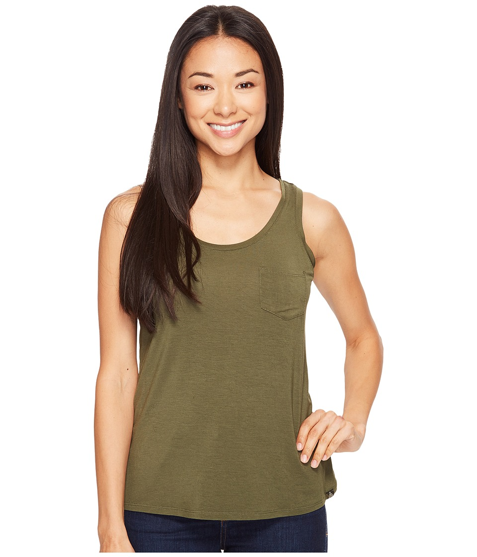 Prana - Foundation Scoop Neck Tank Top (Cargo Green) Womens Sleeveless