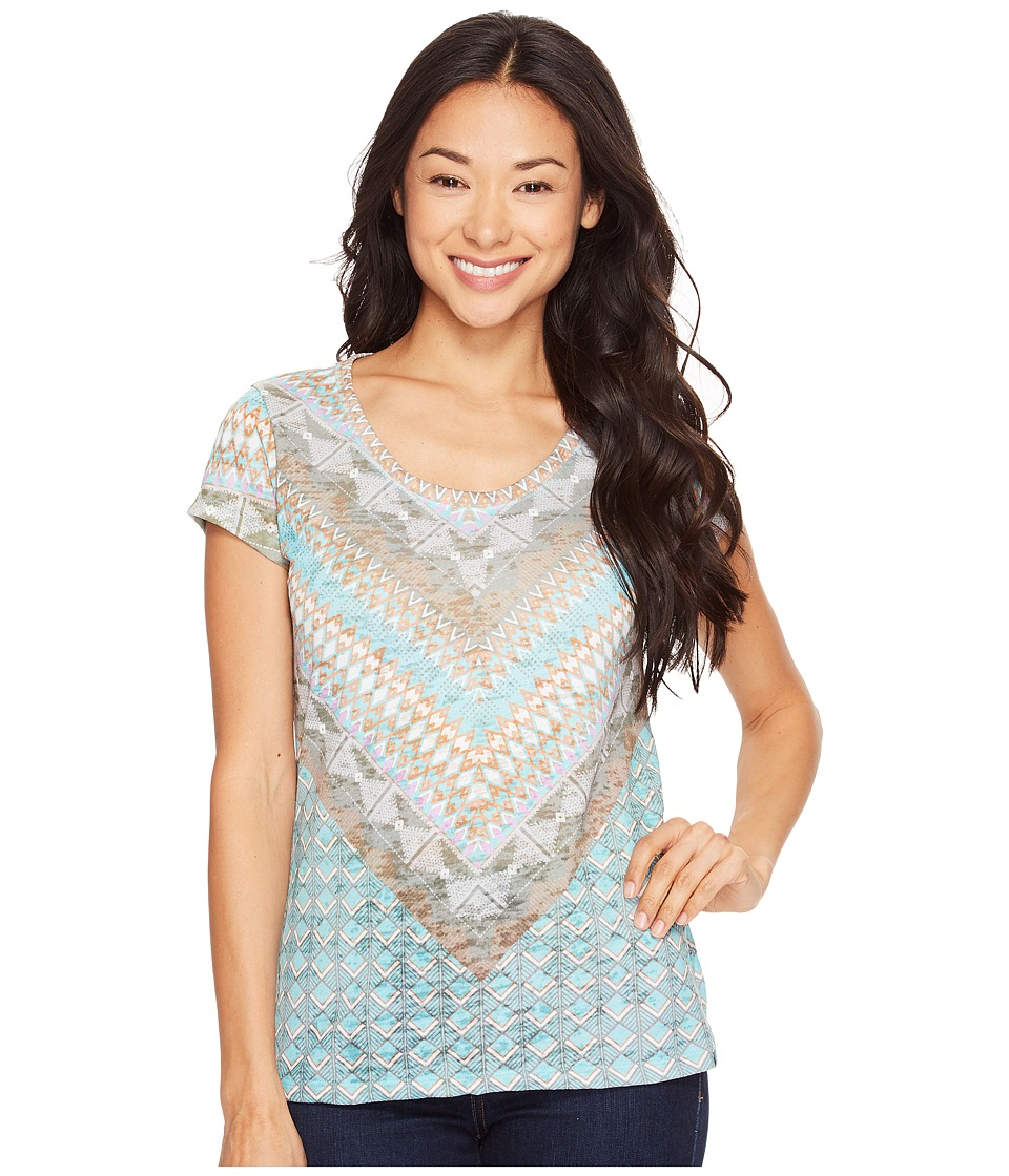 Prana Short Sleeve Portfolio Crew Neck Top (Bora Bay Gatsy) Women