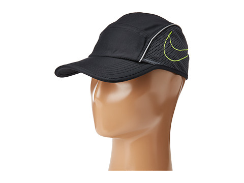 Nike AeroBill AW84 Running Cap - Black/Anthracite/Volt