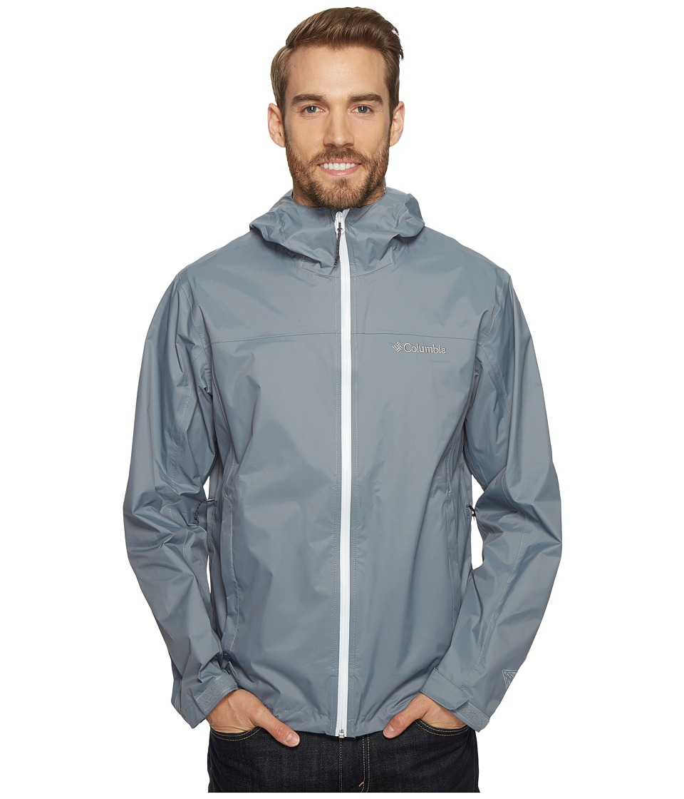 Columbia EvaPOURation Jacket (Grey Ash/White) Men