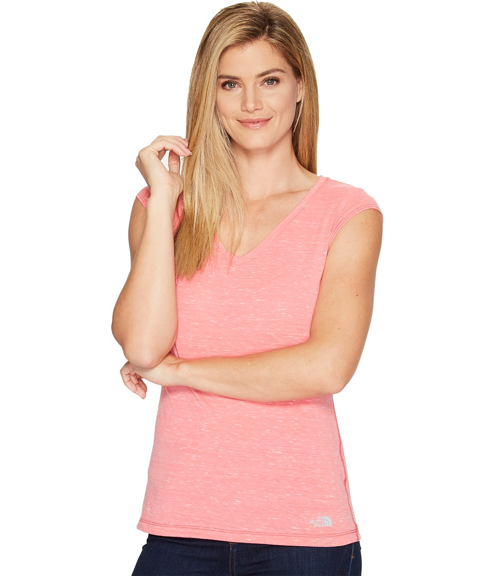 The North Face Short Sleeve EZ Tee (Honeysuckle Pink Melange) Women