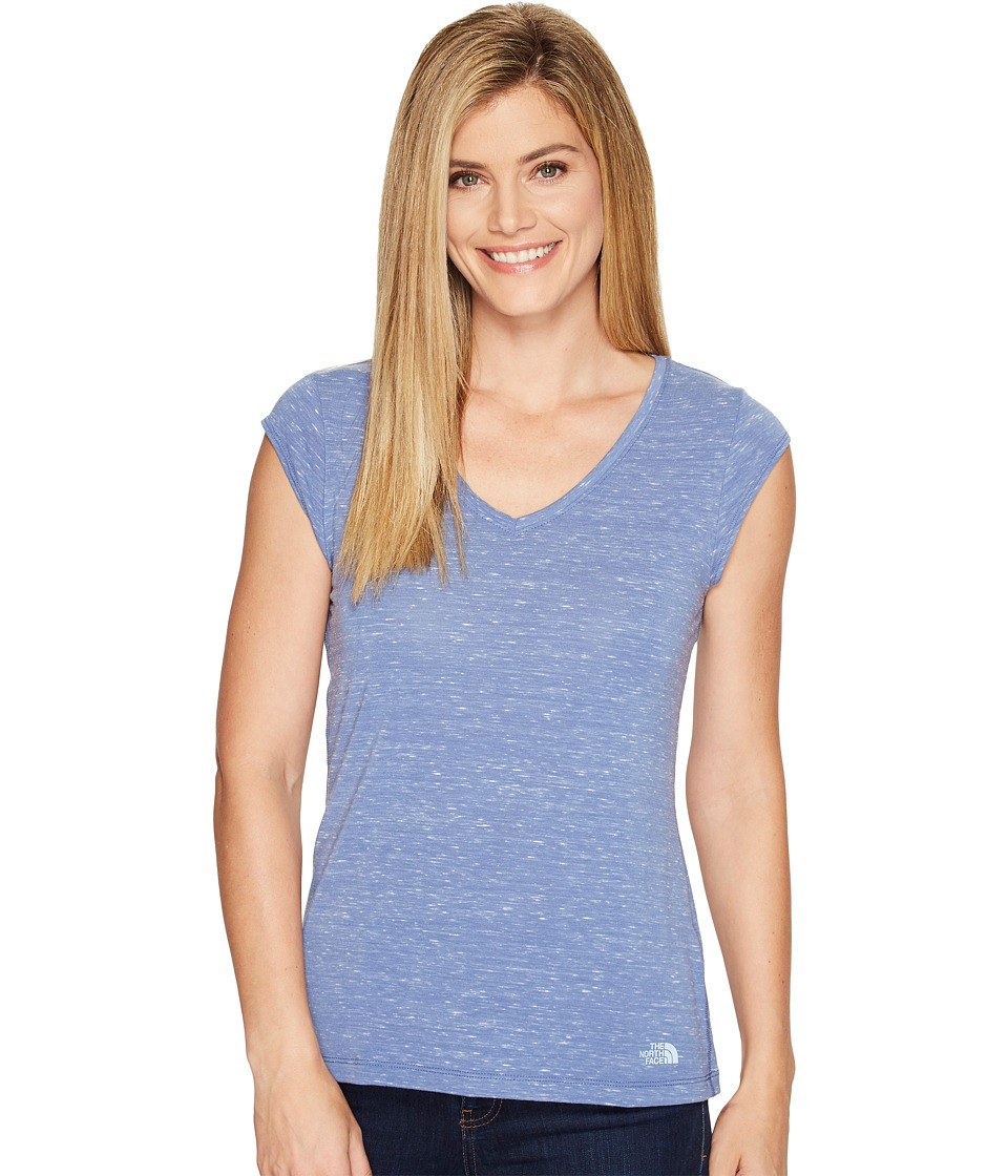 The North Face Short Sleeve EZ Tee (Coastal Fjord Blue Melange (Prior Season)) Women