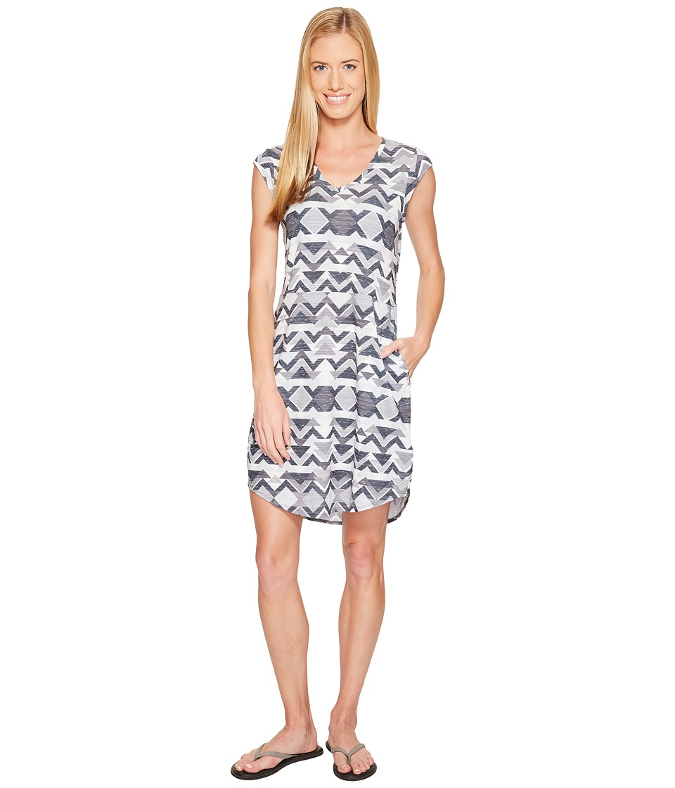 The North Face Short Sleeve EZ Tee Dress (High Rise Grey Triangle Tribal Print) Women
