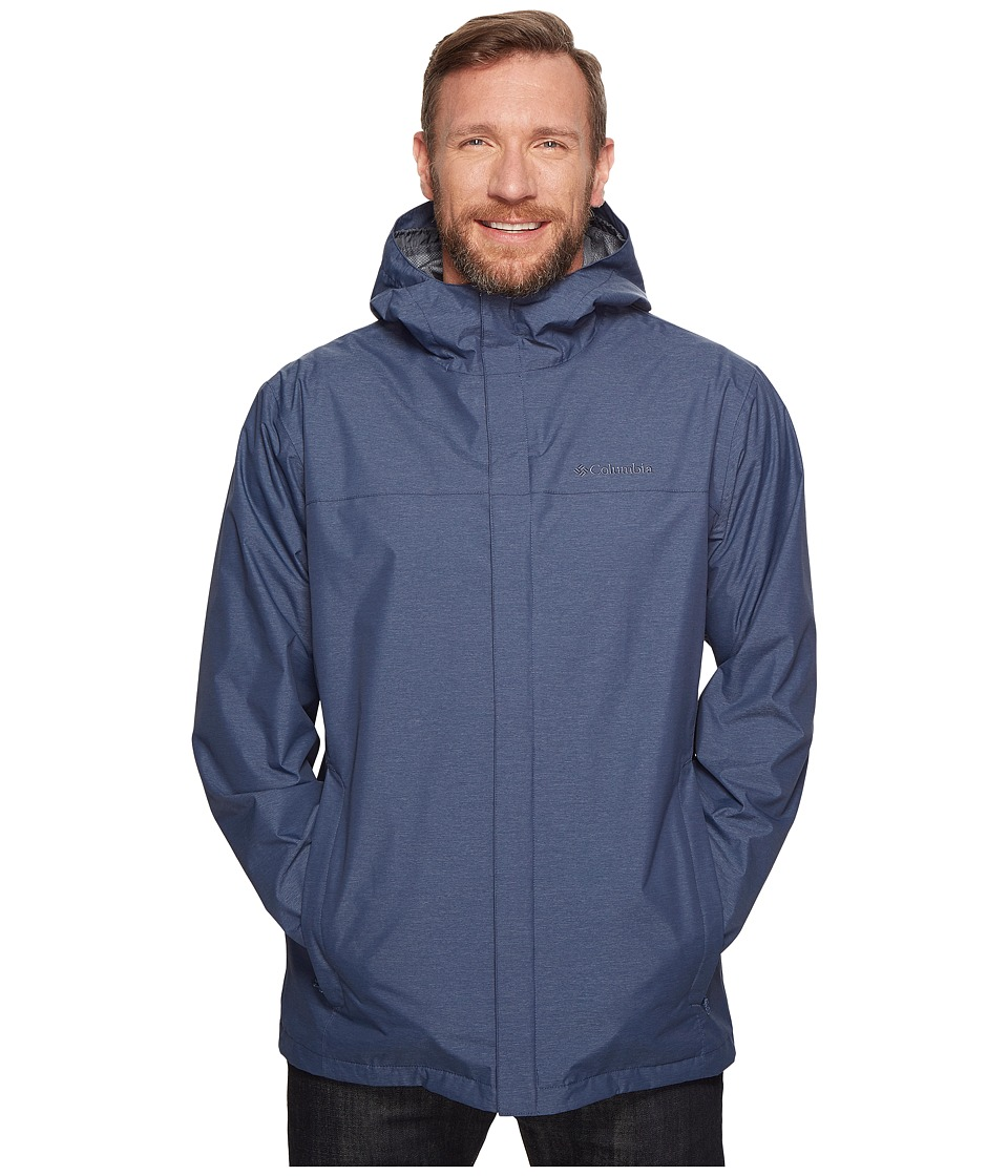 Columbia Big Tall Diablo Creek Rain Jacket (Zinc) Men