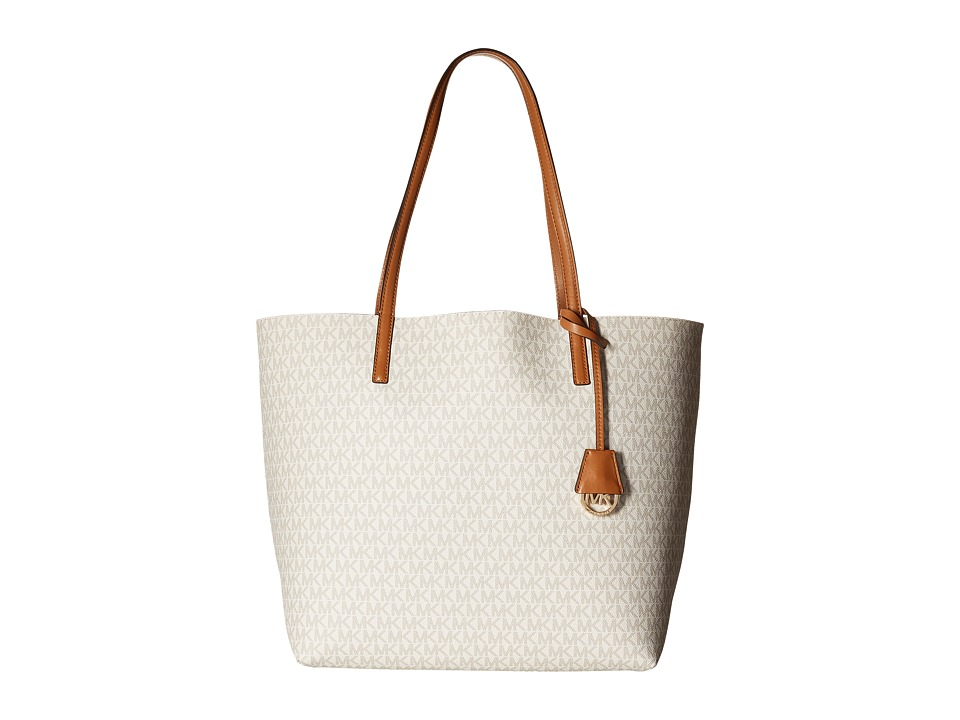 MICHAEL Michael Kors - Hayley Lg Ew Tote (Vanilla/Acorn) Tote Handbags