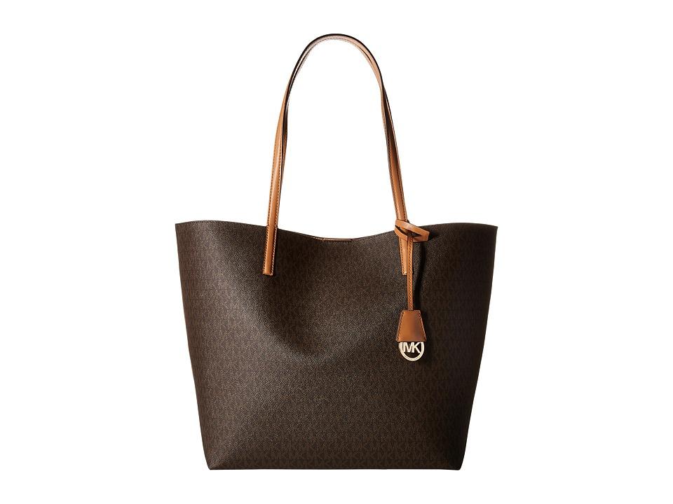 MICHAEL Michael Kors - Hayley Lg Ew Tote (Brown/Peanut) Tote Handbags