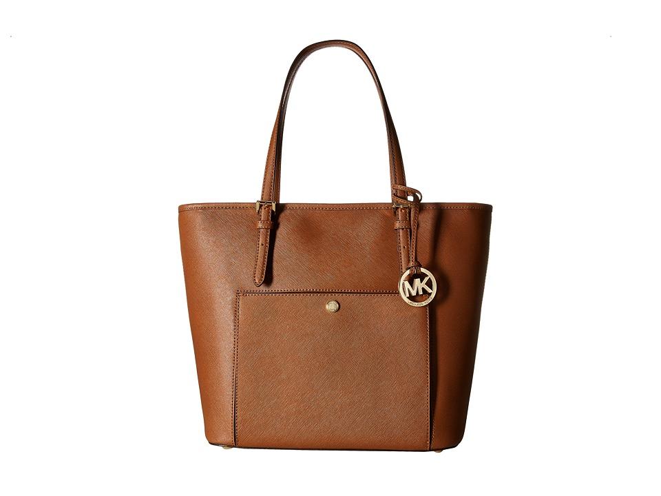 MICHAEL Michael Kors - Jet Set Item Lg Tz Snap Pckt Tote (Luggage) Tote Handbags